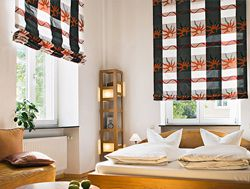 gardinen fensterdekorationen und polsterstoffe. Black Bedroom Furniture Sets. Home Design Ideas